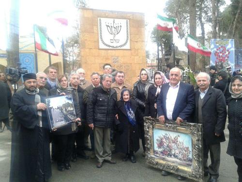 Թեհրանի հայոց թեմի պատվիրակությունը հրեաների գերեզմանատանը